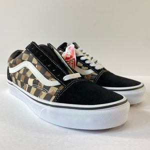 Vans Old Skool Camo Checkerboard Sneakers